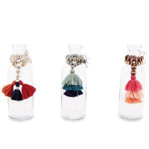 Blue Bead & Tassel Vase